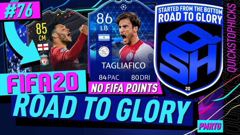 FIFA 20 ROAD TO GLORY YOUTUBE VIDEO FIFA 20 ULTIMATE TEAM ROAD TO GLORY EPISODE 76 QUICKSTOPHICKS FIFA 20 STORYLINE PLAYER OLAIDE CHAMDERLAIN DANILLO MARTINS