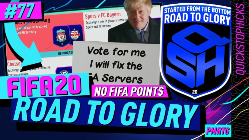 FIFA 20 ROAD TO GLORY YOUTUBE VIDEO FIFA 20 ULTIMATE TEAM ROAD TO GLORY EPISODE 77 QUICKSTOPHICKS FIFA 20 MARQUEE MATCHUPS