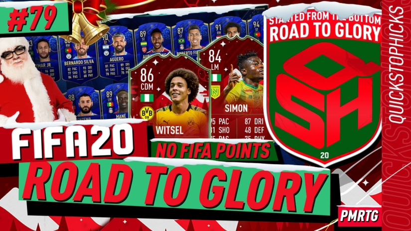 FIFA 20 ROAD TO GLORY YOUTUBE VIDEO FIFA 20 ULTIMATE TEAM ROAD TO GLORY EPISODE 79 QUICKSTOPHICKS FIFA 20 FUTMAS TOTY NOMINEES CARDS