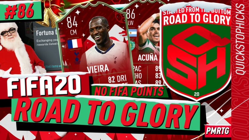 FIFA 20 ROAD TO GLORY YOUTUBE VIDEO FIFA 20 ULTIMATE TEAM ROAD TO GLORY EPISODE 86 QUICKSTOPHICKS FIFA 20 FUTMAS SBC FIFA 20 FUTMAS LEAK