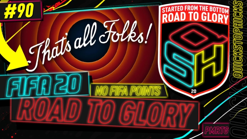 FIFA 20 ROAD TO GLORY YOUTUBE VIDEO FIFA 20 ULTIMATE TEAM ROAD TO GLORY EPISODE 90 QUICKSTOPHICKS FIFA 20 THE END OF THE ROAD TO GLORY