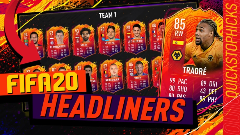 FIFA 20 HEADLINERS TRAORE SBC HEADLINERS TRAORE CHEAPEST