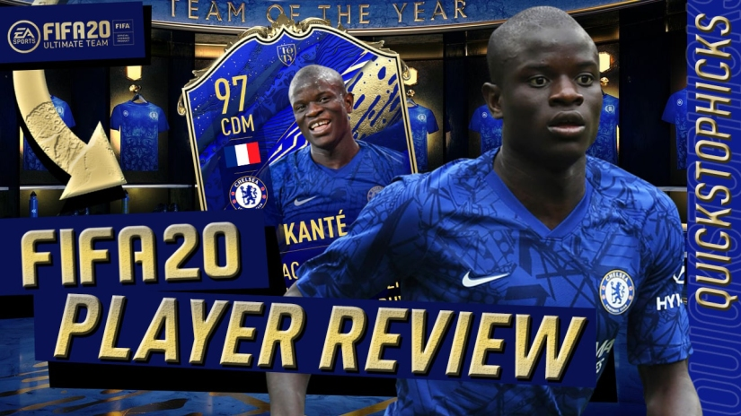 FIFA 20 TOTY KANTE PLAYER REVIEW FIFA 20 KANTE TEAM OF TEH YEAR PLAYER REVIEW MARSHALL 89 HD MARSHALL89HD