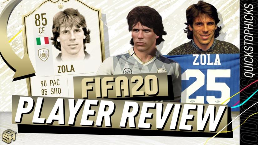 FIFA 20 ULTIMATE TEAM 85 GIANFRANCO ZOLA REVIEW PLAYER REVIEW FIFA 20 ICON SWAPS FIFA 20 ZOLA REVIEW