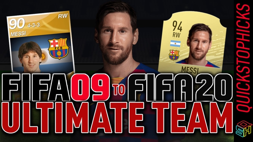 MESSI FUT HISTORY MESSI GENERATIONS FROM FIFA 09 TO FIFA 20 ALL MESSI ULTIMATE TEAM CARDS