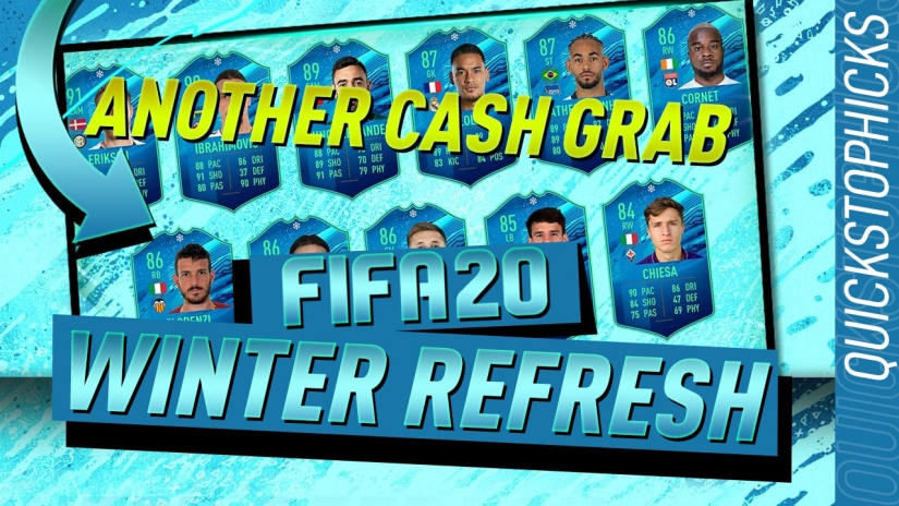 FIFA 20 ROAD TO GLORY WINTER REFRESH CASH GRAB PROMO QUICKSTOPHICKS