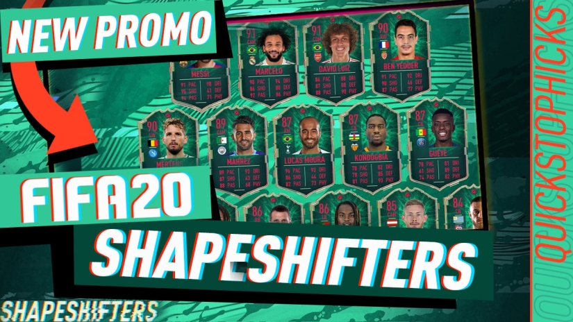 FIFA 20 SHAPESFIFTERS PROMO TEAM ONE RW BEN YEDDER QUICKSTOPHICKS