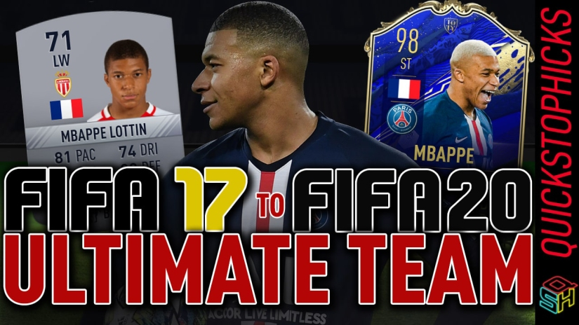 MBAPPE FUT HISTORY MBAPPE GENERATIONS FROM FIFA 17 TO FIFA 20 ALL MBAPPE ULTIMATE TEAM CARDS