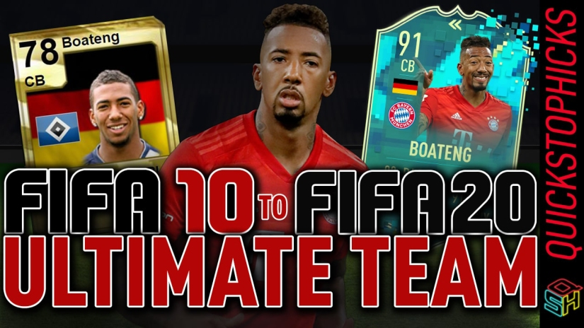 JEROME BOATENG FUT HISTORY BOATENG GENERATIONS FROM FIFA 10 TO FIFA 20 ALL BOATENG ULTIMATE TEAM CARDS